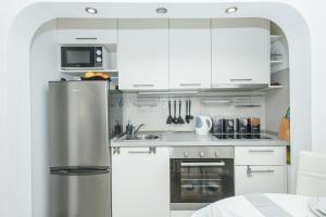 Kuchyň nebo kuchyňský kout v ubytování King&Queen