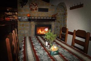 Posezení v ubytování U Bláhů - ubytování v Šestajovickém pivovaru
