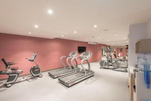 The fitness centre and/or fitness facilities at Hampton By Hilton Frankfurt City Centre East