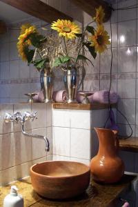 A bathroom at Hosteria Pascana