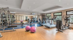 The fitness centre and/or fitness facilities at Henann Prime Beach Resort