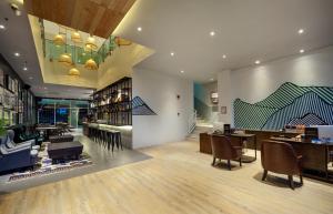 The lobby or reception area at Tune Hotel - 1Borneo Kota Kinabalu