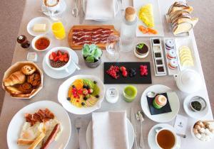 Opciones de desayuno disponibles en Akelarre - Relais & Châteaux