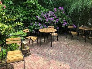 Een patio of ander buitengedeelte van Villa Hoog Duin