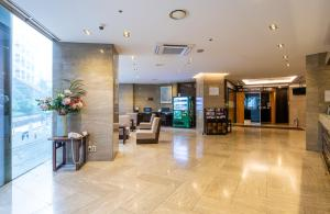 The lobby or reception area at New Seoul Hotel Myeongdong