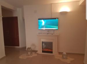 A television and/or entertainment center at Appartement Alger urba new