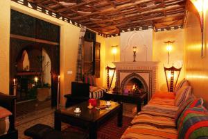 Zona de estar de Riad Jnane Mogador