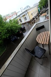 Балкон или терраса в Family apartment on Petrovka 26