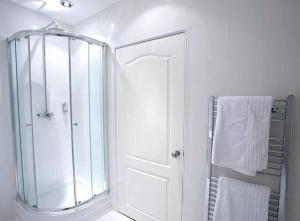 A bathroom at Blueberry Inn