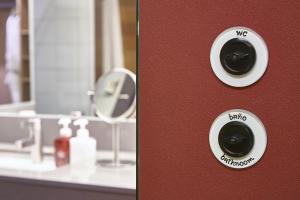 A bathroom at Hotel Casa Camper