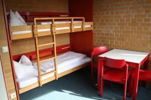 Ein Etagenbett oder Etagenbetten in einem Zimmer der Unterkunft Jugendherberge Berlin - Am Wannsee