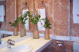 A bathroom at Hotel Sant Quirze De Besora
