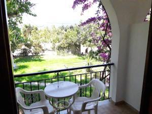 A balcony or terrace at Studios Dimitris
