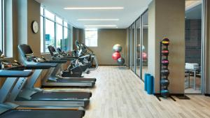 The fitness center and/or fitness facilities at AC Hotel by Marriott Atlanta Buckhead at Phipps Plaza