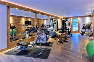 The fitness center and/or fitness facilities at Chalet le Petou