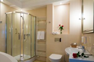 Koupelna v ubytování Hotel Esperanto
