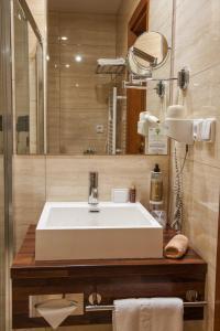 Koupelna v ubytování Hotel Kaskady