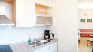 A kitchen or kitchenette at Stadtvilla am Elbhang