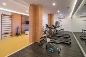 The fitness center and/or fitness facilities at Intercity Ribeirão Preto