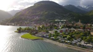 Een luchtfoto van Hotel Vischi