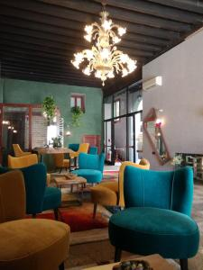 A seating area at Locanda La Corte