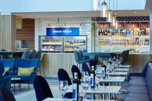 A restaurant or other place to eat at London Heathrow Marriott Hotel