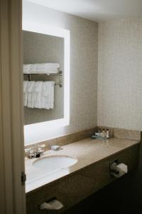 A bathroom at Wingate by Wyndham Vienna/Parkersburg