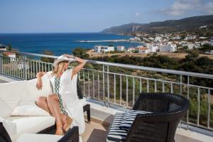 A balcony or terrace at Kythea Resort