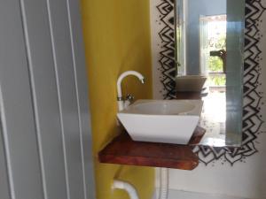 A bathroom at Blue Day