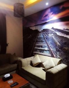 Uma área de estar em Nafal Hotel Suites