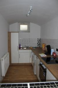 A kitchen or kitchenette at APARTHOTEL 1A
