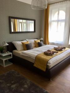 Letto o letti in una camera di Beautiful Apartments in Prague