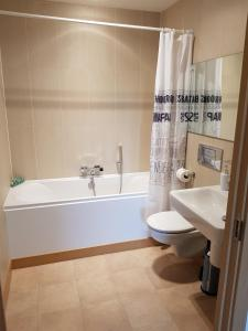 A bathroom at Vetrelax Basildon City Center Apartment
