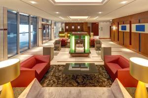 Lobby/Rezeption in der Unterkunft Hilton Garden Inn Frankfurt Airport