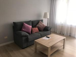 A seating area at Alojamientos Olga