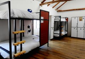 A bunk bed or bunk beds in a room at Intro Hostels Cusco
