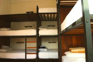 A bunk bed or bunk beds in a room at Nomad Hostel