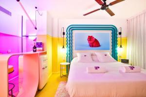 Cama o camas de una habitación en Paradiso Ibiza Art Hotel - Adults Only