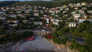 Blick auf Senj Apartment aus der Vogelperspektive