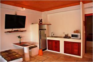 مطبخ أو مطبخ صغير في Mirabel Club Resort