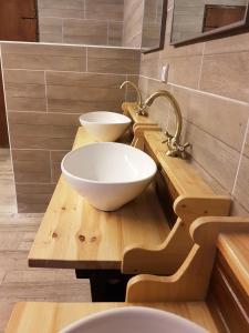 A bathroom at Alberg Les Daines