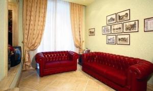 A seating area at Hotel Demetra Capitolina