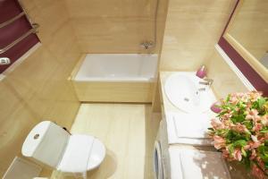 A bathroom at Lviv Apartments