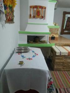 A kitchen or kitchenette at Dykyi Khutir