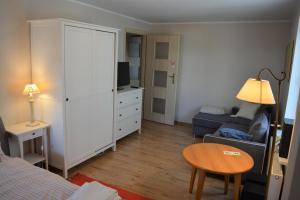 Telewizja i/lub zestaw kina domowego w obiekcie Apartament Margarita