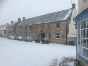 The New Inn during the winter