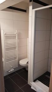 A bathroom at Hotel Elb Blick