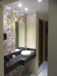 A bathroom at Pousada Circuito das Águas