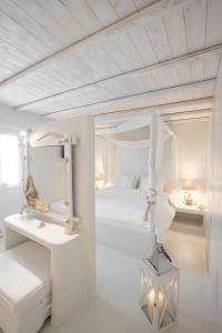 A bathroom at Paros Palace