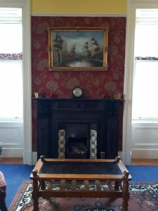A seating area at Hallgreen castle